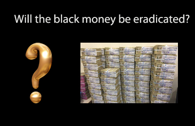 how to eradicate black money