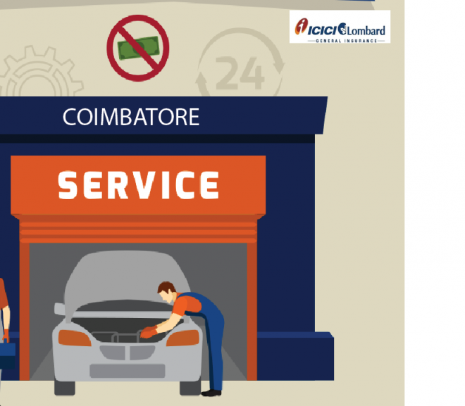 Know about cashless garages in Coimbatore – ICICI Lombard Insurance company!