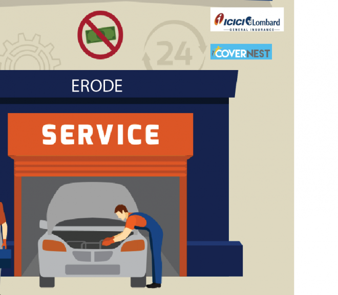 Know about cashless garages in Erode – ICICI Lombard Insurance company!