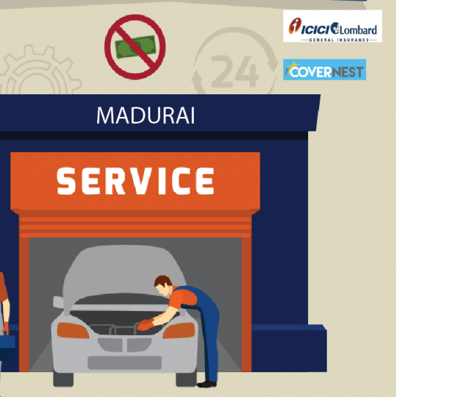 Know about cashless garages in Madurai – ICICI Lombard Insurance company!