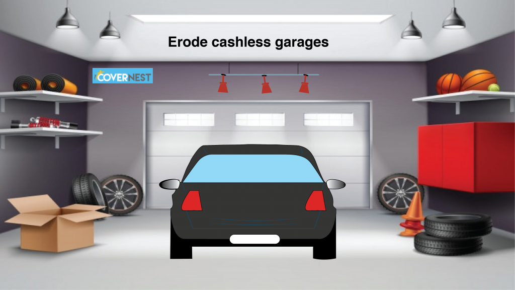 cashless garages in erode hdfc ergo