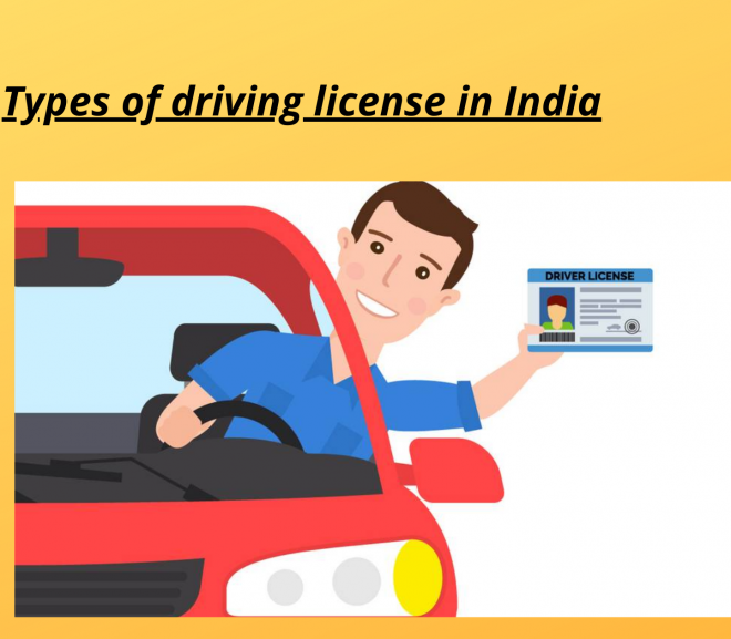 Types of Driving License in India