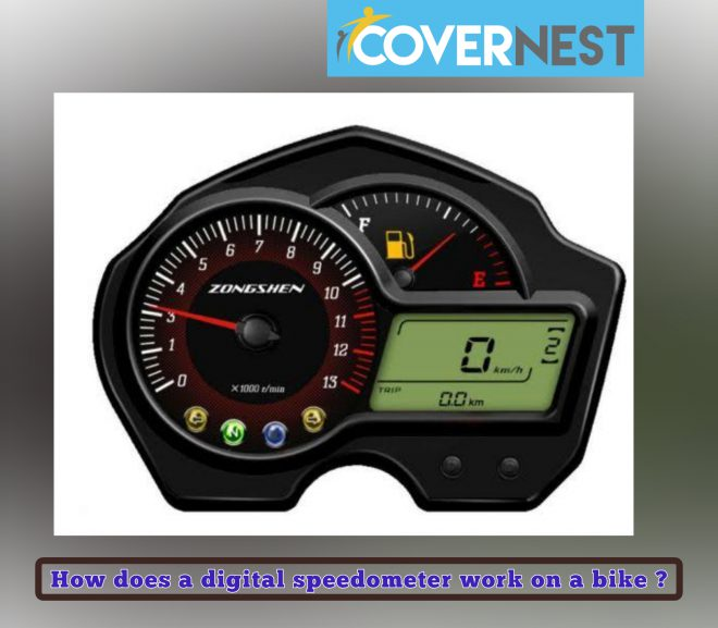 How does a digital speedometer work on a bike ?